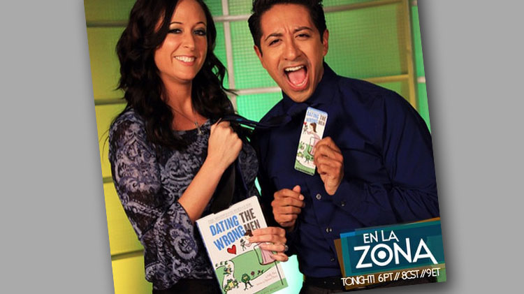 Kelly Rossi and Dennis Pastorizo with En La Zona at LATV
